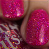 Girly Bits Cosmetics Hot Stuff from the Sequins & Satin Pants Collection | Swatch courtesy of @honeybee_nails