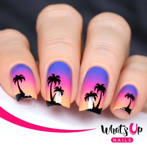 AVAILABLE AT GIRLY BITS COSMETICS www.girlybitscosmetics.com Palm Stencils by Whats Up Nails | Photo credit: IG@solo_nails