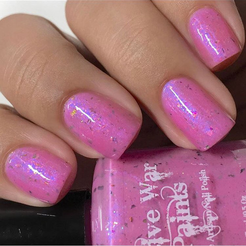 AVAILABLE AT GIRLY BITS COSMETICS www.girlybitscosmetics.com A Peony Saved is a Peony Earned (Spring Flowers Trio Collection) by Native War Paints | Swatch  provided by IG@polishedbybeckie