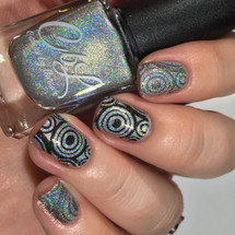 AVAILABLE AT GIRLY BITS COSMETICS www.girlybitscosmetics.com Chimney Sweep - Stamping Polish by Colors by Llarowe | Swatch courtesy of IG@mrswhite8907