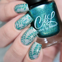 AVAILABLE AT GIRLY BITS COSMETICS www.girlybitscosmetics.com Enchanted Forest - Stamping Polish by Colors by Llarowe | Swatch courtesy of IG@glitterfingersss