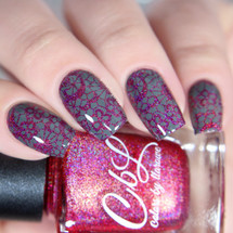 AVAILABLE AT GIRLY BITS COSMETICS www.girlybitscosmetics.com Hey Romeo - Stamping Polish by Colors by Llarowe | Swatch courtesy of IG@glitterfingersss