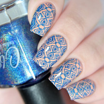 AVAILABLE AT GIRLY BITS COSMETICS www.girlybitscosmetics.com Royalty - Stamping Polish by Colors by Llarowe | Swatch courtesy of IG@glitterfingersss
