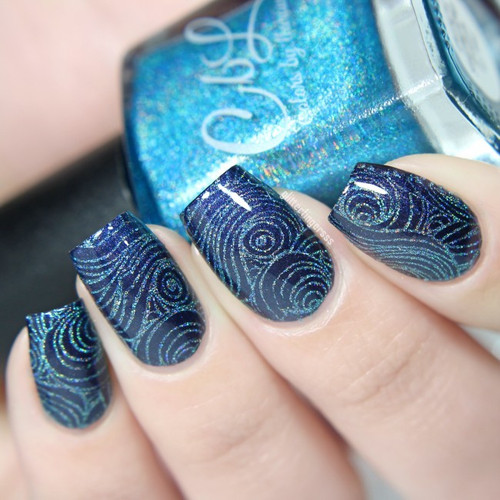 AVAILABLE AT GIRLY BITS COSMETICS www.girlybitscosmetics.com Turq'd - Stamping Polish by Colors by Llarowe | Swatch courtesy of IG@glitterfingersss