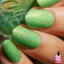 AVAILABLE AT GIRLY BITS COSMETICS www.girlybitscosmetics.com Bananas and Krispy Kremes are Better Than HBO (Krispy Kreme Dreams Collection) by Colors by Llarowe | Swatch courtesy of Nailed the Polish