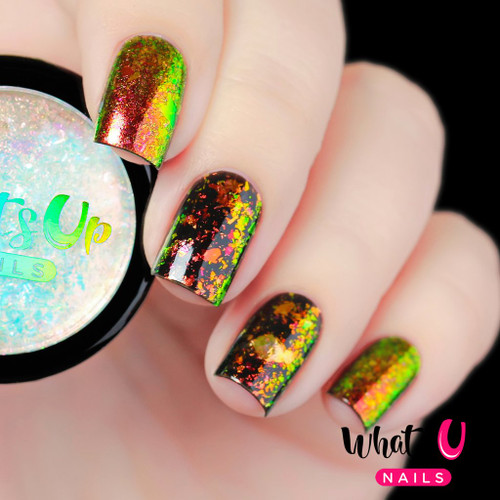 AVAILABLE AT GIRLY BITS COSMETICS www.girlybitscosmetics.com Tropic Flakies by Whats Up Nails