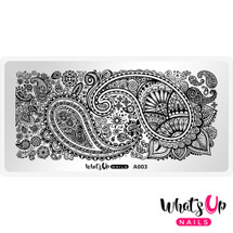 AVAILABLE AT GIRLY BITS COSMETICS www.girlybitscosmetics.com Paisley Buffet Stamping Plate by Whats Up Nails | Photo credit: IG@solo_nails