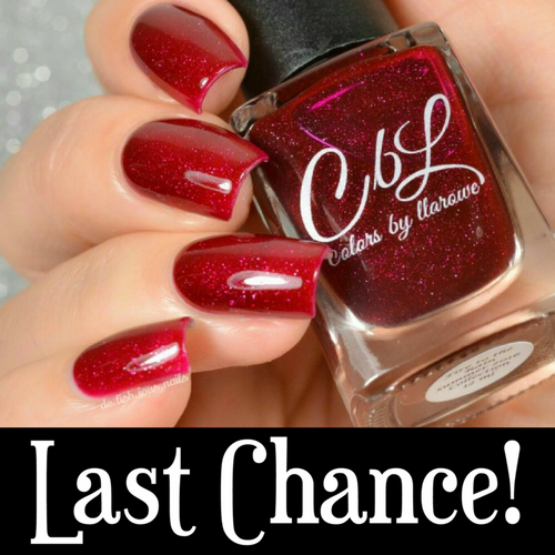 AVAILABLE AT GIRLY BITS COSMETICS www.girlybitscosmetics.com Fire to the Rain (Summer 2016 Collection) by Colors by Llarowe | Swatch courtesy of Deliishious Nails
