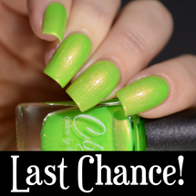 AVAILABLE AT GIRLY BITS COSMETICS www.girlybitscosmetics.com Radioactive (Spring/Summer 2017 Collection) by Colors by Llarowe | Swatch courtesy of Delishious Nails