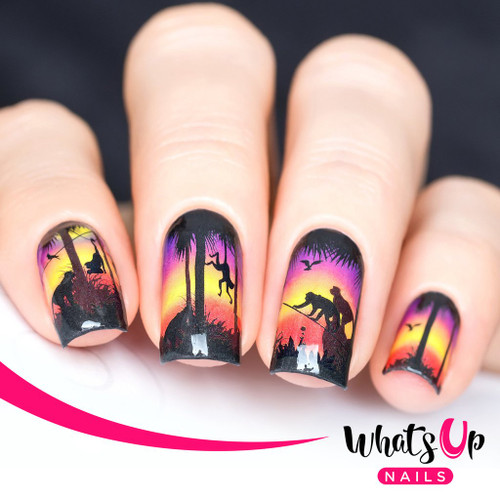 AVAILABLE AT GIRLY BITS COSMETICS www.girlybitscosmetics.com Hangin' at Sunset Water Decals by Whats Up Nails | Photo credit: IG@solo_nails