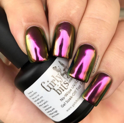 GIRLY BITS COSMETICS Conjure (SFX Multi-chrome Powder) | Swatch courtesy of IG@polishhisnails