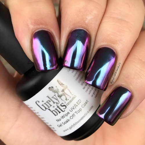 GIRLY BITS COSMETICS Alchemy (SFX Multi-chrome Powder) | Swatch courtesy of Polish His Nails