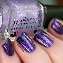AVAILABLE AT GIRLY BITS COSMETICS www.girlybitscosmetics.com Weeping Angels (Doctor Who Flake Collection - Part One) by Colors by Llarowe | Swatch courtesy of The Girly Tomboy