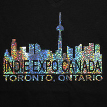 T-shirt with Indie Expo holo logo