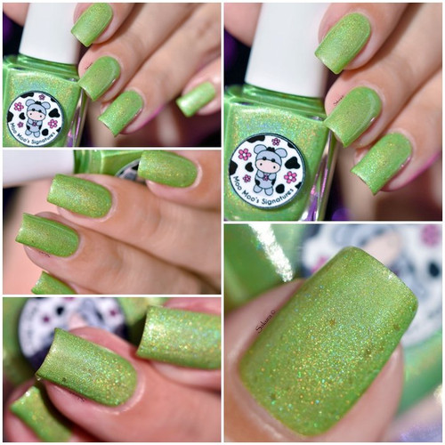 AVAILABLE AT GIRLY BITS COSMETICS www.girlybitscosmetics.com Luck Be The Daisy Tonight - LE (Love & Peace Collection) by Moo Moo's Signatures   Swatch courtesy of @nailartsakura