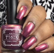 AVAILABLE AT GIRLY BITS COSMETICS www.girlybitscosmetics.com Bleeding Heart Sunset (Femme Fatale X Tonic Four Seasons Collaboration) by Tonic Polish | Swatch courtesy of @queenofnails83