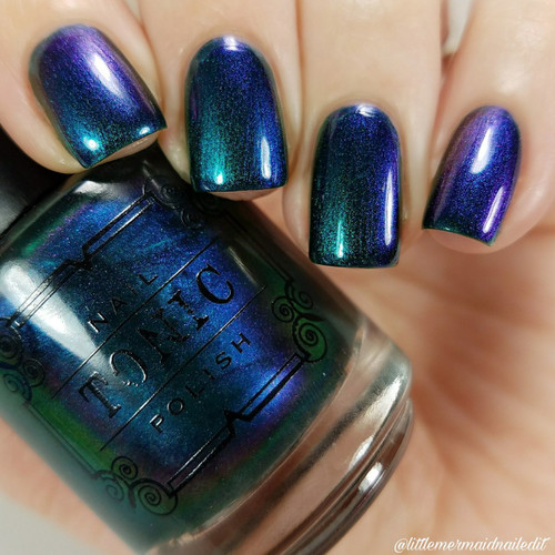 AVAILABLE AT GIRLY BITS COSMETICS www.girlybitscosmetics.com The Places You'll Go - POLISH ONLY (May Babies Duo Collection) by Tonic Polish | Swatch courtesy of @littlemermaidnailedit