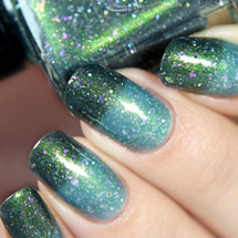 AVAILABLE AT GIRLY BITS COSMETICS www.girlybitscosmetics.com Aurora Borealis from the Things to Love Trio with Glitterfingersss by Femme Fatale | Swatch courtesy of @glitterfingersss