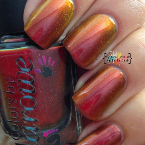 AVAILABLE AT GIRLY BITS COSMETICS www.girlybitscosmetics.com Show Off (The Multi Chromes Collection) by Colors by Llarowe | Swatch courtesy of My Nail Polish Obsession