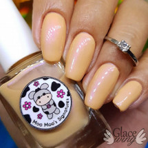 AVAILABLE AT GIRLY BITS COSMETICS www.girlybitscosmetics.com Catching Flying Apricot (LE) (Facebook Group Customs Collection) by Moo Moo's Signatures | Swatch courtesy of IG@glacewing