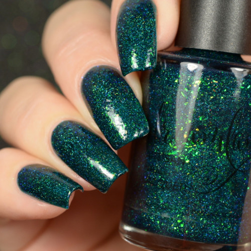 AVAILABLE AT GIRLY BITS COSMETICS www.girlybitscosmetics.com On Pines and Needles (Girly Bits Shop Exclusives Collection) by Dreamland Lacquer | Photo credit: Delishious Nails