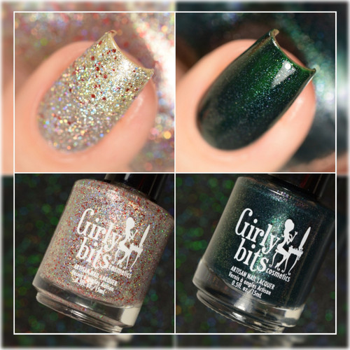 Girly Bits Cosmetics Slay Belle & Fir Realz (December 2017 CoTM) | Swatch courtesy of Delishious Nails