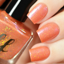AVAILABLE AT GIRLY BITS COSMETICS www.girlybitscosmetics.com Poisoned Peach (Labyrinth Collection) by Femme Fatale | Swatch courtesy of Tanya_Wish