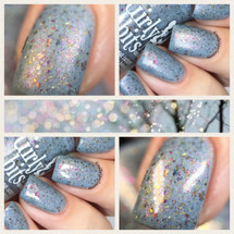 GIRLY BITS COSMETICS Winter Whispers  (Fantasmic Flakies ) | Swatch courtesy of Nail Experiments