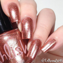 AVAILABLE AT GIRLY BITS COSMETICS www.girlybitscosmetics.com Five Rose Gold Rings (12 Days of Christmas Collection) by Pahlish | Swatch  provided by @cdbnails143