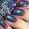 Girly Bits Cosmetics Blue Year's Resolution (January 2018 CoTM) | Swatch courtesy of Nail Experiments