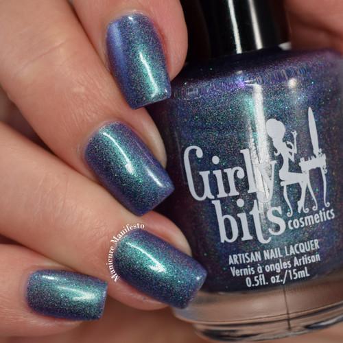 Girly Bits Cosmetics Blue Year's Resolution (January 2018 CoTM) | Swatch courtesy of Manicure Manifesto