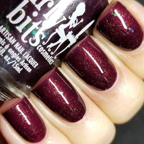 Girly Bits Cosmetics Dark Reflection (February 2018 CoTM)   Swatch courtesy of IG@lacquerloon