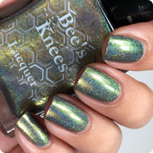 AVAILABLE AT GIRLY BITS COSMETICS www.girlybitscosmetics.com Hela Holo (Ragnarok Collection) by Bee's Knees Lacquer | Photo credit: @nailmedaily