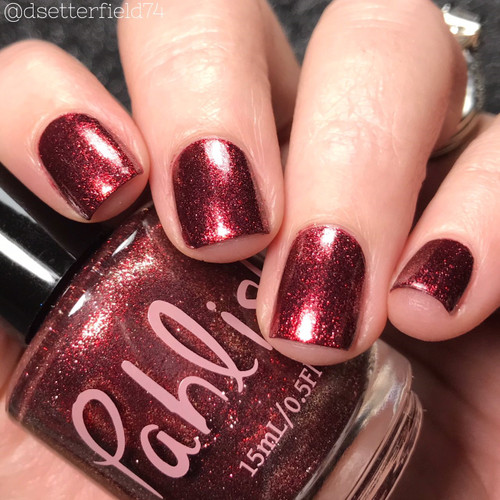 AVAILABLE AT GIRLY BITS COSMETICS www.girlybitscosmetics.com Black Forest (Spring 2018 Collection) by Pahlish | Swatch  provided by Snacks on Rotation