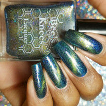 AVAILABLE AT GIRLY BITS COSMETICS www.girlybitscosmetics.com The World (Arcana Chronicles Collection) by Bee's Knees Lacquer | Photo credit:  @rayeanarobinson