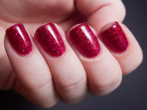Swatch courtesy of Chalkboard Nails | GIRLY BITS COSMETICS Rogue
