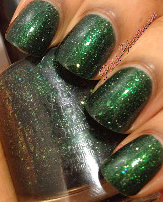 Swatch by Polish Obsession | GIRLY BITS COSMETICS You Don't Smell Like Santa Claus
