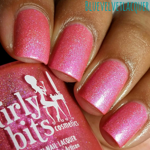 Swatch courtesy of Blue Velvet Lacquer | GIRLY BITS COSMETICS Our Lips Are Sealed