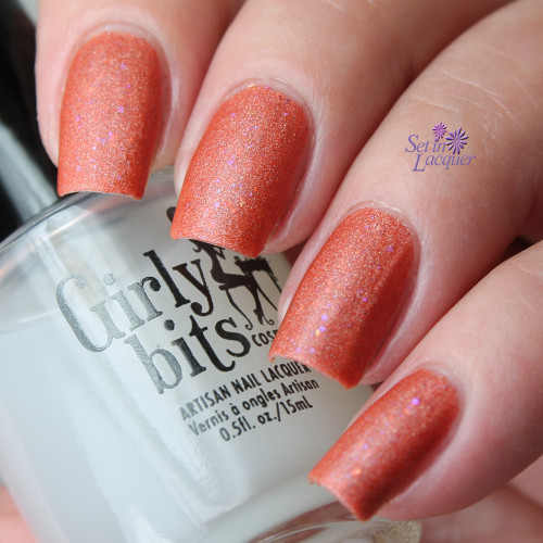 Swatch courtesy of Set In Lacquer | GIRLY BITS COSMETICS Polish Matte'rs over Let's Do This!