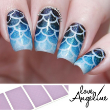 Mermaid Scales Nail Shields