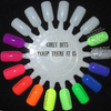 GIRLY BITS COSMETICS Hoop! There It Is Collection (shown here with What A Rush Quick Dry Top Coat on the creme colours and Glitter Glaze Quick Dry Top Coat on You Spin Me 'Round glitter topper)