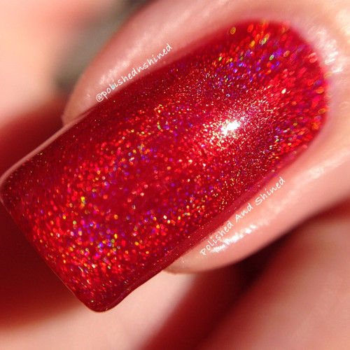 Swatch courtesy of Polished & Shined | GIRLY BITS COSMETICS It Was The Fireball