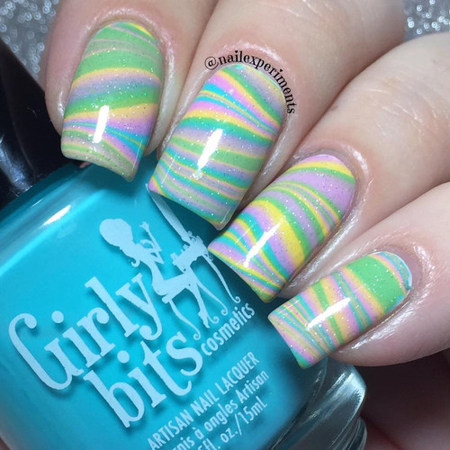 Water Marble using Dreaming Tree by Nail Experiements