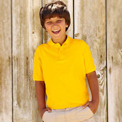 Kids Fruit Of The Loom Polo Shirt