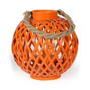 orange round bamboo lantern | home decor