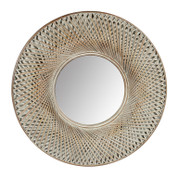 round dome bamboo mirror | home decor