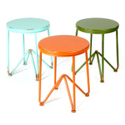 painted metal & timber stool | chairs & decor