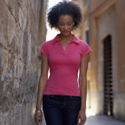 Women's Fruit Of The Loom Buttonless Polo Shirt