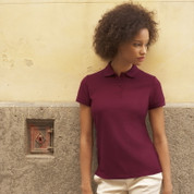Women's Fruit Of The Loom Pique Polo Shirt Burgundy