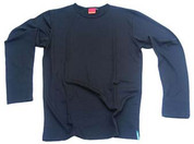 Mens Merino T-shirts Long Sleeves Black